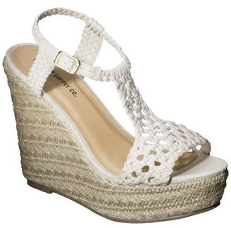Mossimo Women's Waneta Macramé Wedge Sandal - Assorted Colors