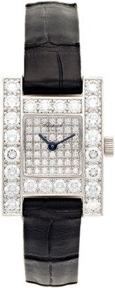 Chopard H 18K White Gold & Diamond Watch