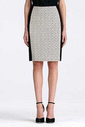 Diane von Furstenberg Mahalia Lace Skirt In Soft Powder