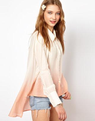 Winter Kate Free Shirt in Dip Dyed Silk Cotton