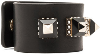 Givenchy Bracelet with Pyramid Studs in Black