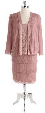 Patra Plus Plus Embellished Tiered Chiffon Dress