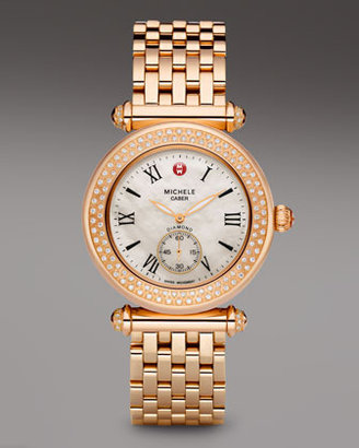 Michele Caber Diamond Watch Head, Rose Gold