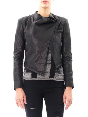 Helmut Lang Waterfall front leather jacket
