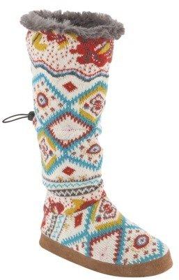Wanderlust Women's MUK LUKS® Tina Toggle Slipper Boot - Boho Stripe