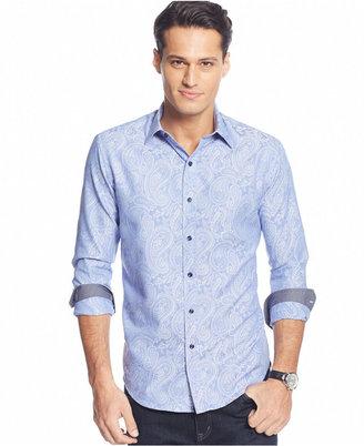 Tasso Elba Men's Big and Tall Print Long-Sleeve Shirt $79.50 thestylecure.com