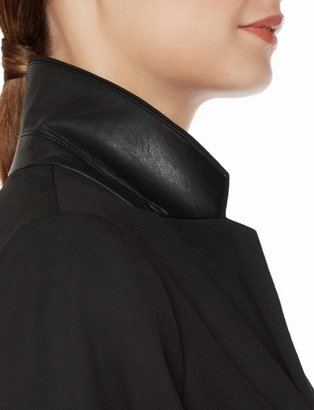 The Limited Collection Faux Leather Lapel Jacket
