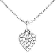 Jennifer Meyer Diamond Heart Necklace - White Gold