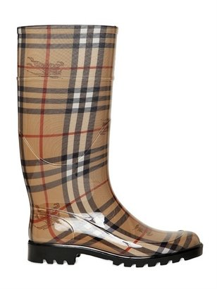 Burberry 30mm Checked Rubber Rain Boots
