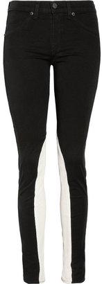 Rag and Bone Rag & bone JEAN The Jodhpur paneled stretch-denim skinny jeans