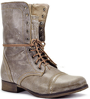 Steve Madden Troopa - Combat Boot in Stone Leather