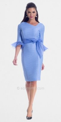 NUE by Shani Periwinkle Organza Knit Cocktail Dress from NUE