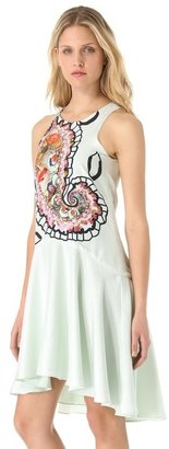Cynthia Rowley Magnified Paisley Halter Dress
