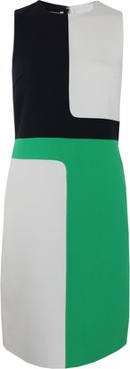 Michael Kors Sleeveless Geometric A-Line Dress