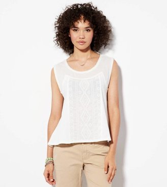 American Eagle AE Flowy Embroidered Top