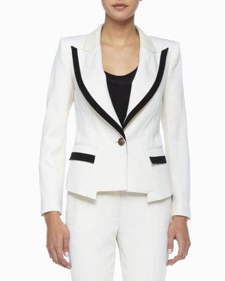 Rachel Zoe Foster Contrast Crepe Jacket