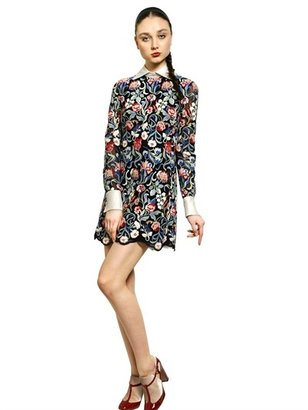 Valentino Tapestry Cotton Guipure Dress