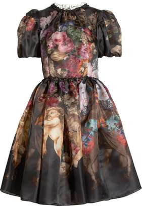 Dolce & Gabbana Printed silk-organza dress