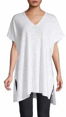 Eileen Fisher V-Neck Linen Cotton Blend Tunic