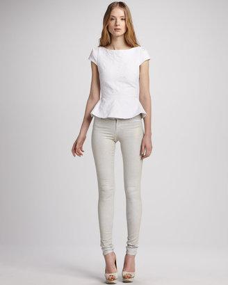 Alice + Olivia Five-Pocket Skinny Jeans