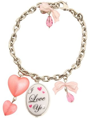 Tarina Tarantino I Love You Charm Bracelet (Pink) - Jewelry