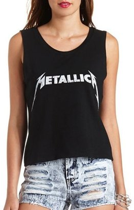 Charlotte Russe Metallica Graphic Muscle Tee