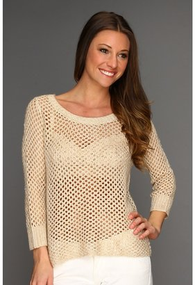 Kensie Honeycomb Knit Sweater (Bran Combo) - Apparel