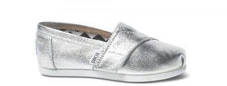 Toms Silver metallic tiny classics