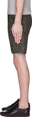Rag and Bone Rag & Bone Green & Grey Digital Camo Blade Shorts