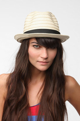 Urban Outfitters Braided Straw Trilby Hat