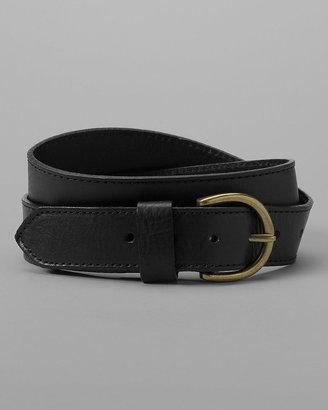 Eddie Bauer Women's Pebbled Leather Jeans Belt
