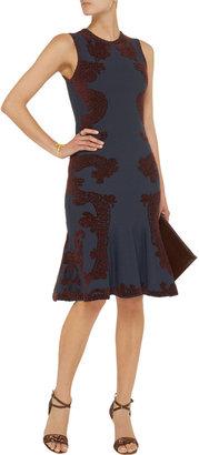 Zac Posen Stretch-knit jacquard dress