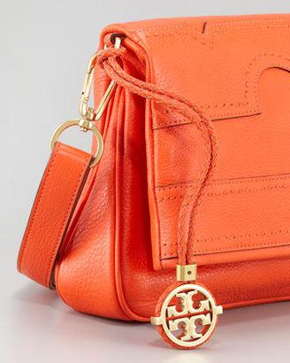 Tory Burch Amalie Fold-Over Messenger Bag, Fire Orange