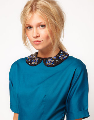 Asos Embellished Stone Floral Collar