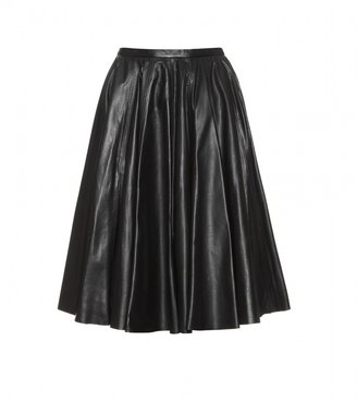 McQ by Alexander McQueen FLARED LEATHER SKIRT