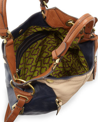 Oryany Victoria Colorblock Shoulder Bag, Sand/Multi