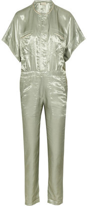 Band Of Outsiders Flight satin-twill jumpsuit