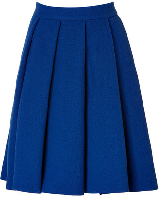 J.W.Anderson Wool-Blend Ten Pleat Skirt in Blue