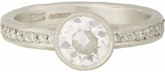 Malcolm Betts Women's Diamond & Hammered Platinum Ring