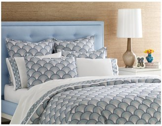 Jonathan Adler Fish Scale Duvet Cover, Navy/Turquoise, Twin