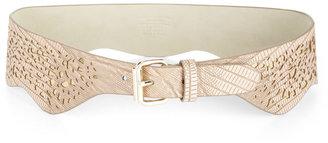 BCBGMAXAZRIA Cutout-Detail Scalloped Waist Belt