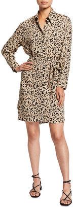 Finley Carter Leopard Print Shirtdress