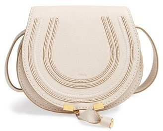 Chloe 'Mini Marcie' Leather Crossbody Bag - White $890 thestylecure.com