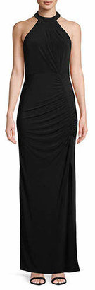 Laundry by Shelli Segal Ruched Column Gown