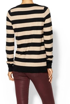 Pim + Larkin Sequin Key Stripe Sweater