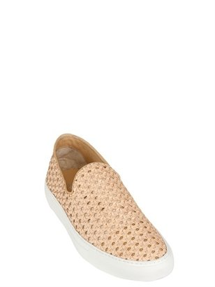 Rocco P. Woven Washed Leather Slip On Loafers