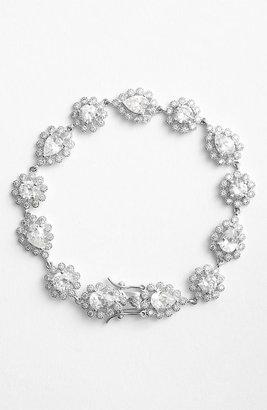 Kenneth Jay Lane CZ by Floral Line Bracelet