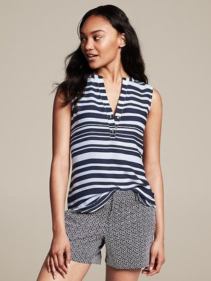 Banana Republic Striped Sleeveless Riviera Blouse