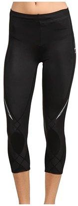 CW-X Stabilyxtm 3/4 Tight (Black) Women's Workout