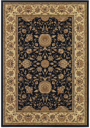 "Couristan Closeout! Area Rug, Tamena TAM881 Isfahan Black 3'11"" x 5'3"
